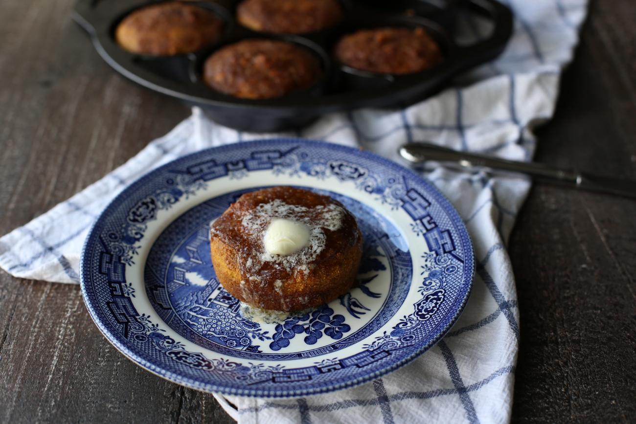 Pumpkin Spice Cornbread Mini Cakes Lodge Cast Iron