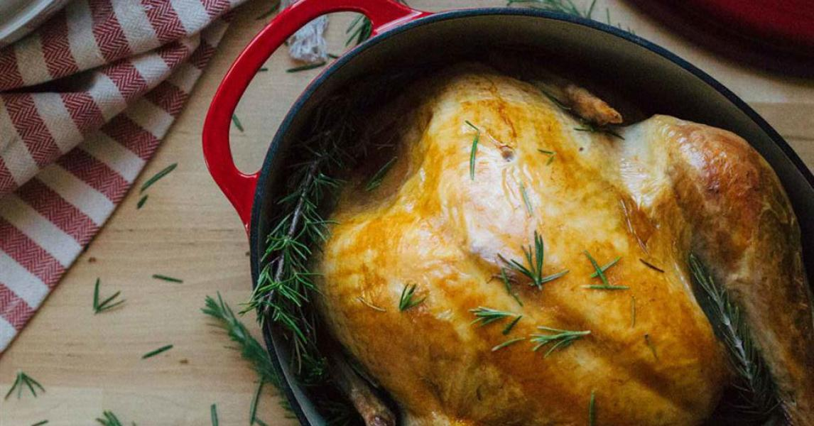 Simple Roast Turkey In A Dutch Oven Lodge Cast Iron